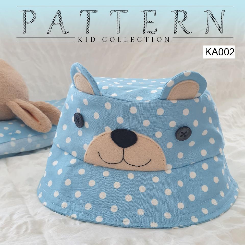 แพทเทิร์นหมวกสำหรับเด็กทรงบักเก็ต